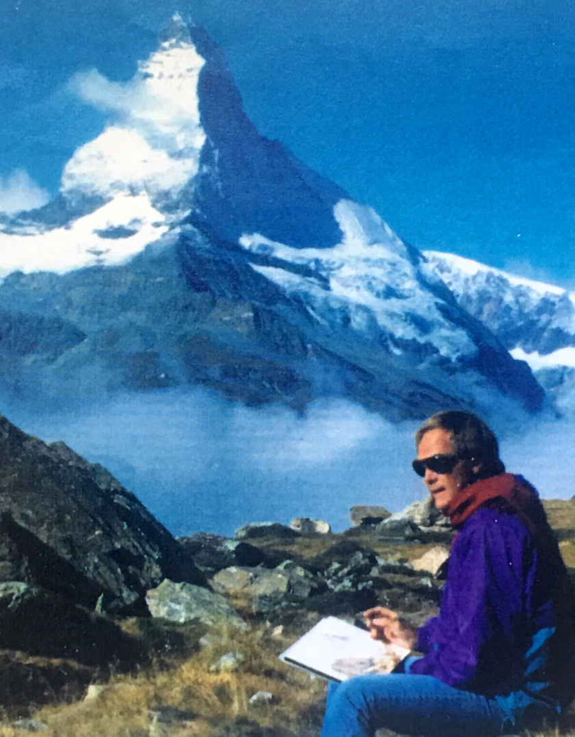 Jim Kingwell plein air painter- Zermatt
