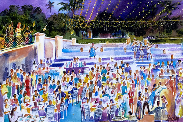 Celebration Paintings - Corporate Event